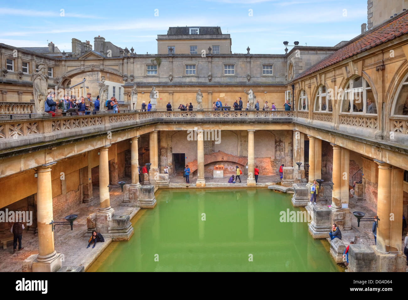 Roman Baths, Bath, Somerset, England, United Kingdom Stock Photo ...