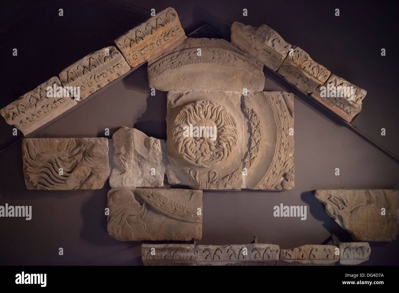 Gorgon's Head, Roman Baths, Bath, Somerset, England, United Kingdom - Stock Image