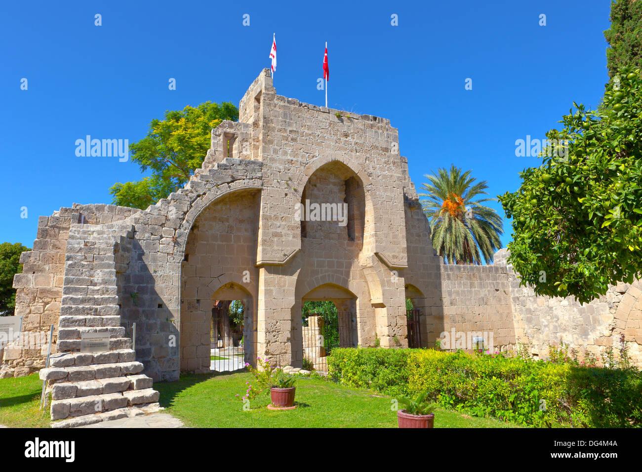 Historic Bellapais Abbey in Kyrenia, Cyprus. - Stock Image