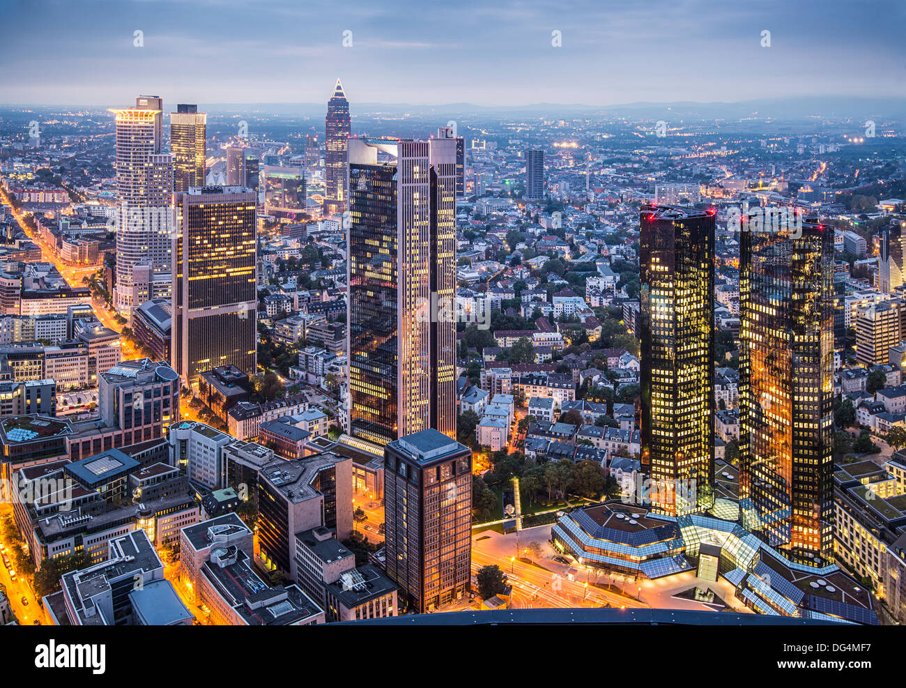 Cityscape of Frankfurt, Germany, the financial center of the country. - Stock Image