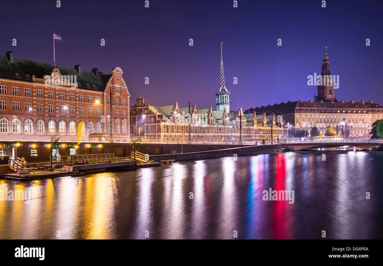 Copenhagen, Denmark cityscape at Christianborg Palace. - Stock Image