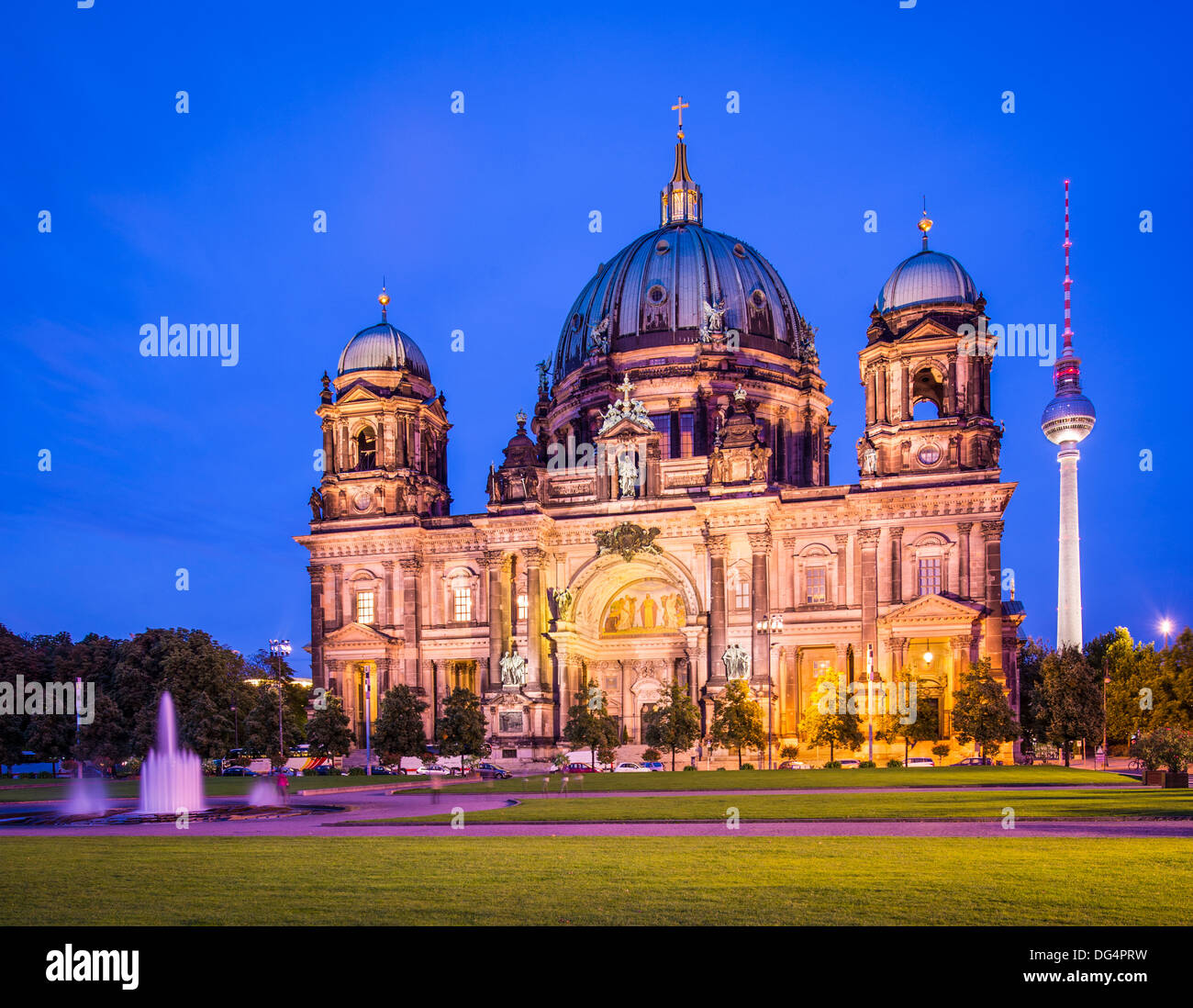 Berlin Cathedral in Berlin, Germany. The church's formation dates back to 1451. - Stock Image