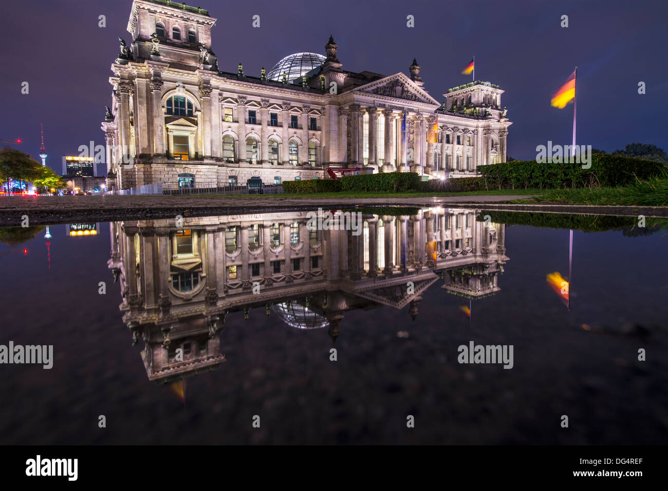 Reichstag Parliament Building in Berlin, Germany - Stock Image