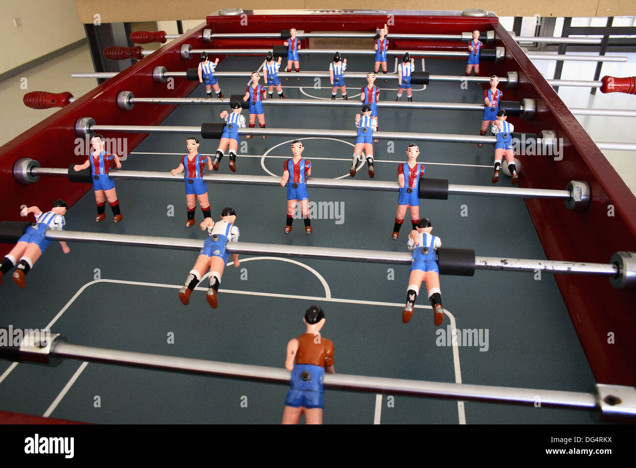 Table Football FC Barcelona RCD Espanyol De Barcelona Stock Photo - Barcelona fc table