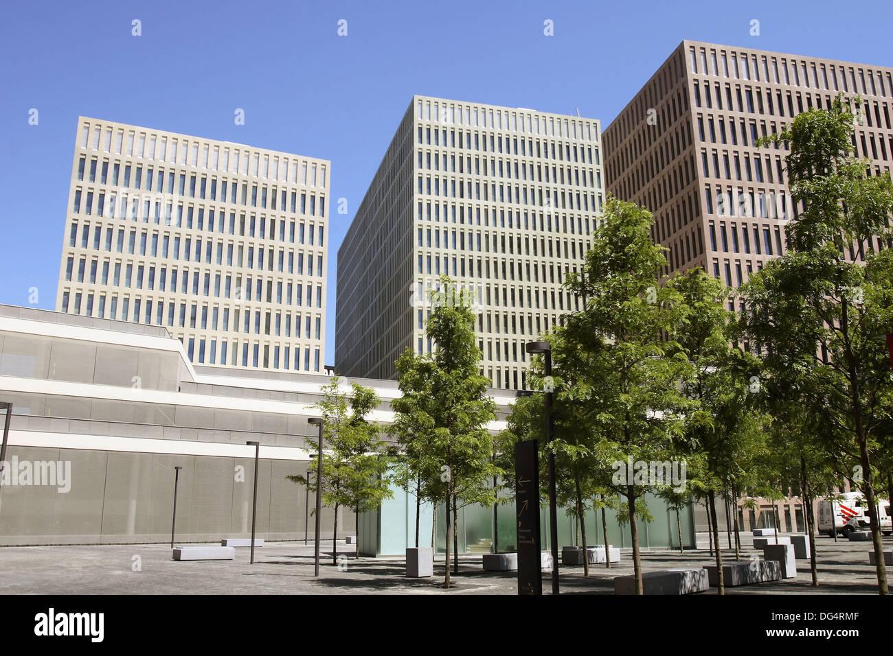 Ciutat De La Justicia New Courts Barcelona Catalonia Spain Stock