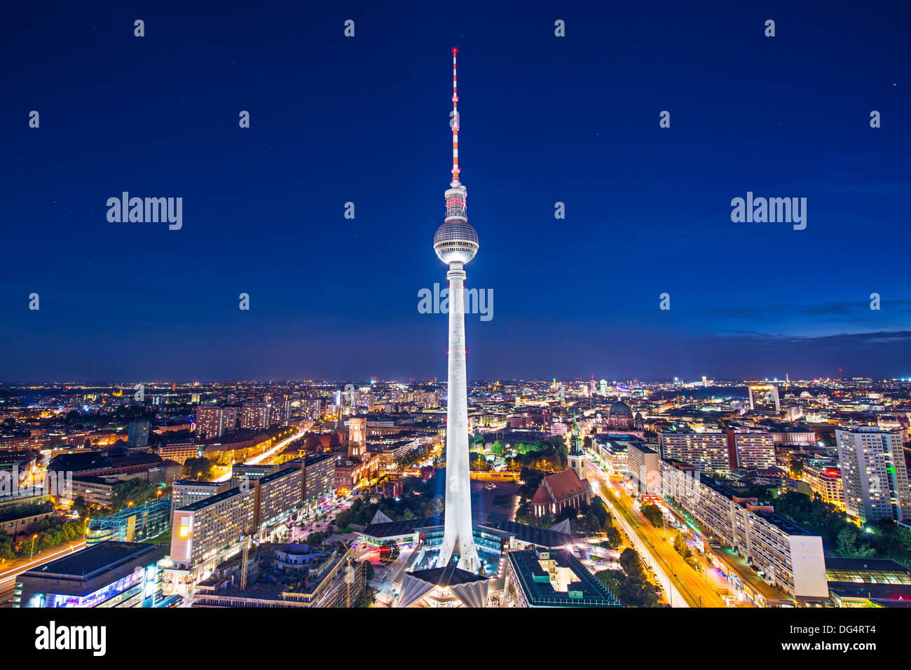 Berlin, Germany view of TV tower. - Stock Image