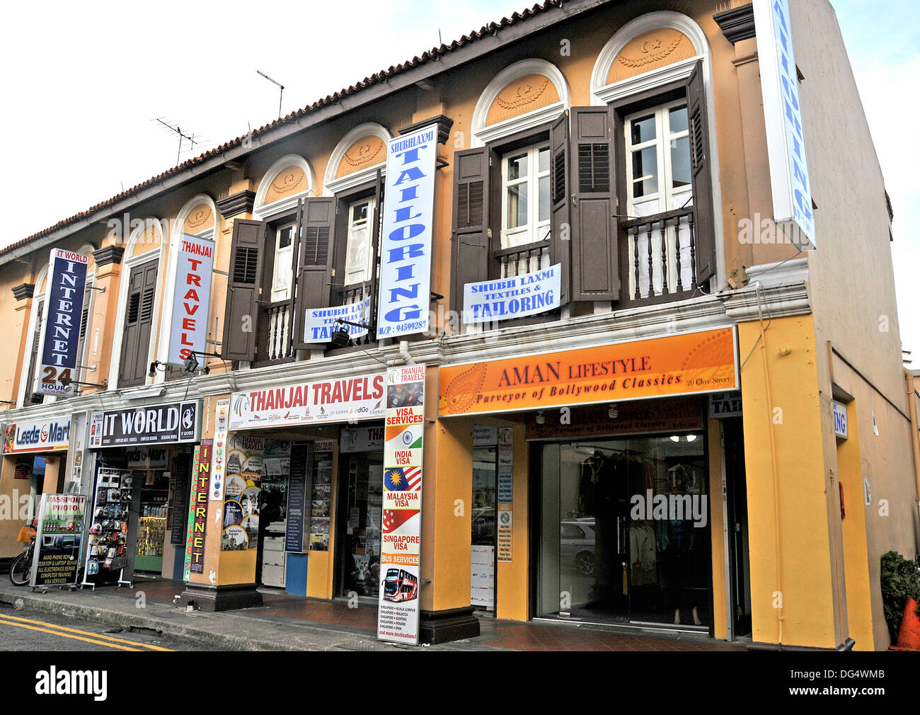 shop Clive street Little India Singapore Asia - Stock Image