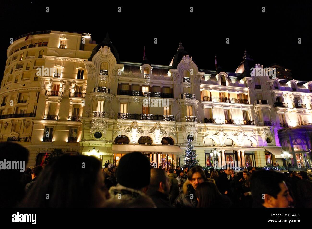 christmas lights hotel de paris nice france