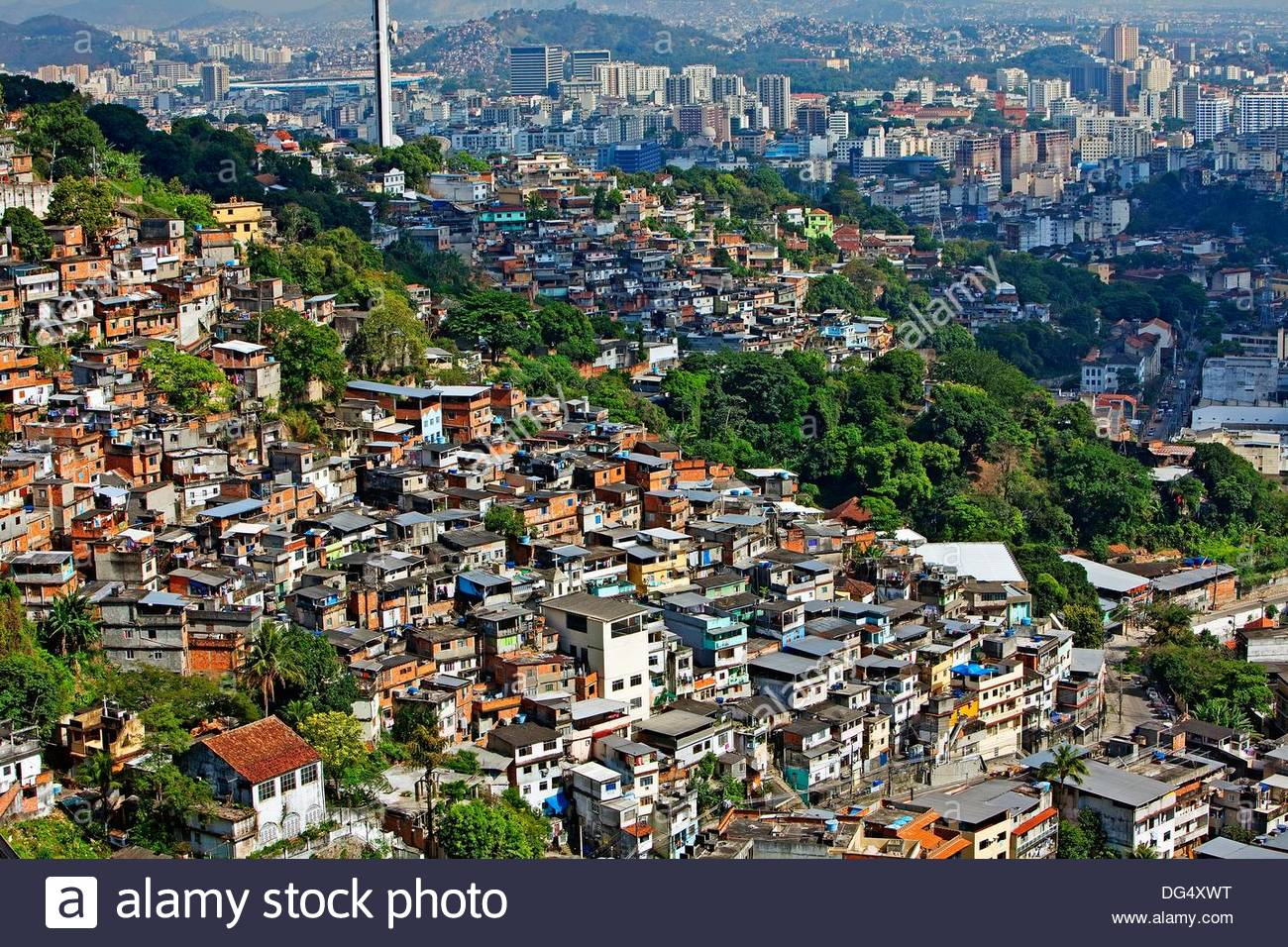 favela viewed from santa teresa rio de janeiro brazil stock photo 61574516 alamy. Black Bedroom Furniture Sets. Home Design Ideas