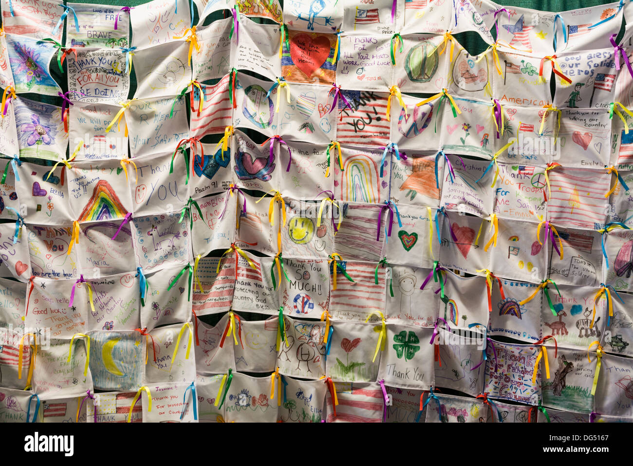 4H quilt honoring veterans, Great New York State Fair, Syracuse. - Stock Image