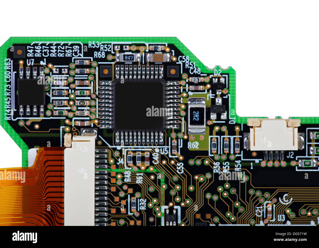 No Electronic Devices Stock Photos Canary Circuit View Of An Assembled Board With Smd Components Isolated In Front White Background
