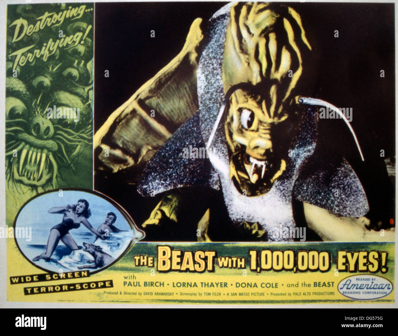 THE BEAST WITH A MILLION EYES 1955) POSTER DAVID KRAMARSKY DIR) BWEY 001 MOVIESTORE COLLECTION LTDStock Photo