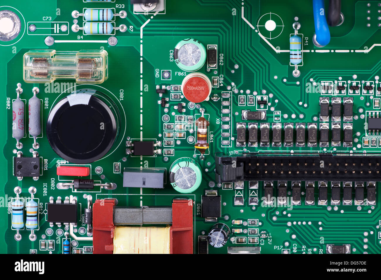 No Electronic Devices Stock Photos Canary Circuit Board With Many Conventional And Smd Components Image