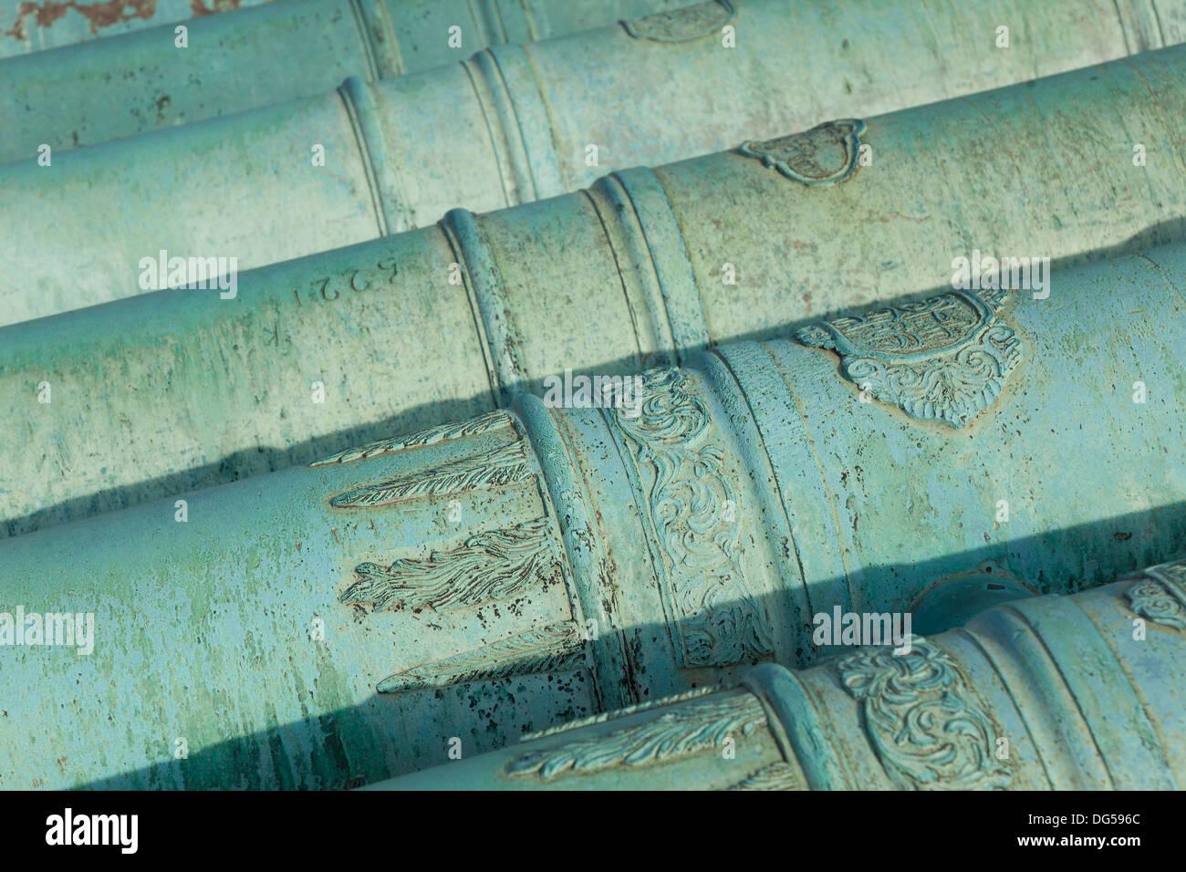 Cannons in Les Invalides, Paris, Ile de France, France - Stock Image