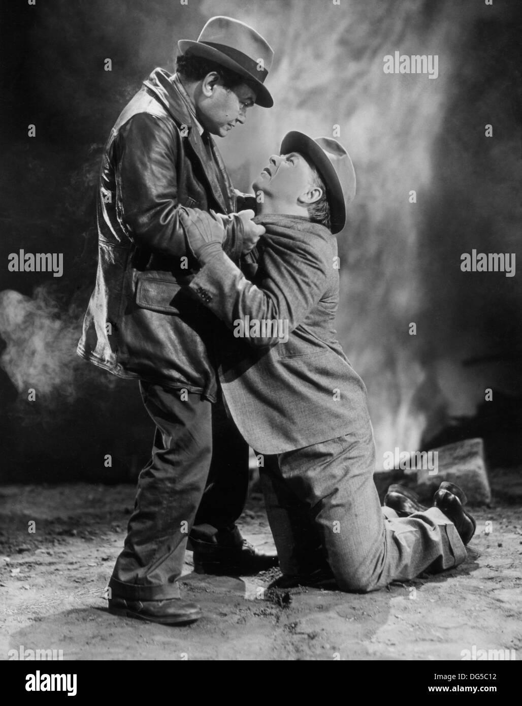 Edward G. Robinson (Left), On-Set of the Film, 'Tales of Manhattan', 20th Century Fox, 1942 - Stock Image