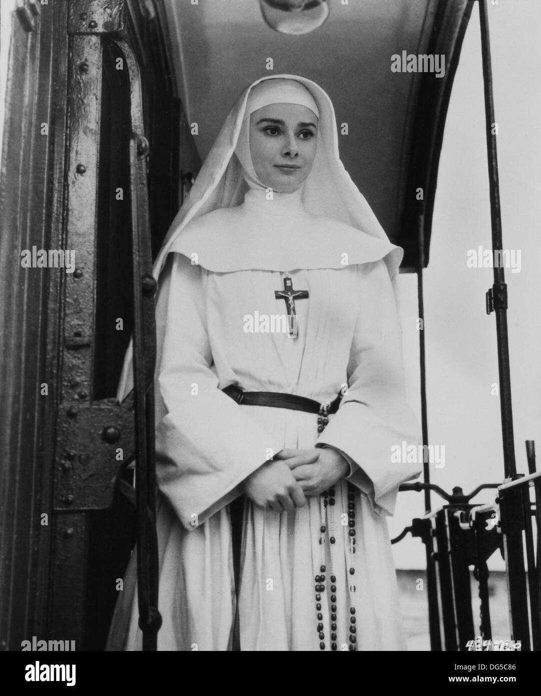Audrey Hepburn, on-set of the Film, 'The Nun's Story', Warner Bros., 1959 - Stock Image