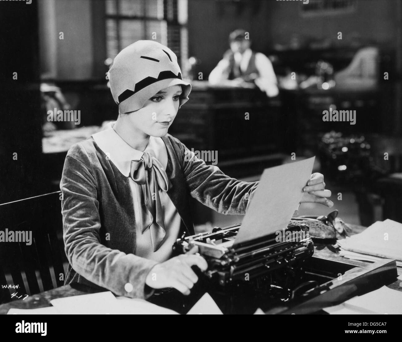 Georgia Hale, On-Set of the Film, A Woman Against the World, 1928 Stock Photo