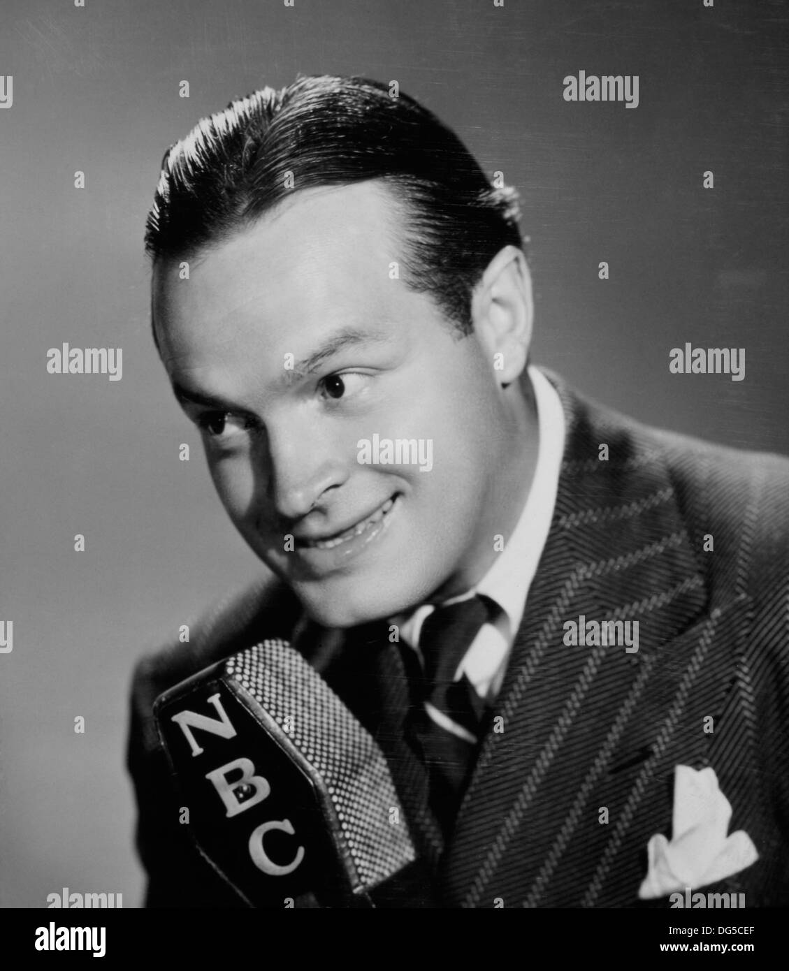 Bob Hope, Publicity Portrait for his Radio Program, 'The Pepsodent Show Starring Bob Hope', NBC, 1940 - Stock Image