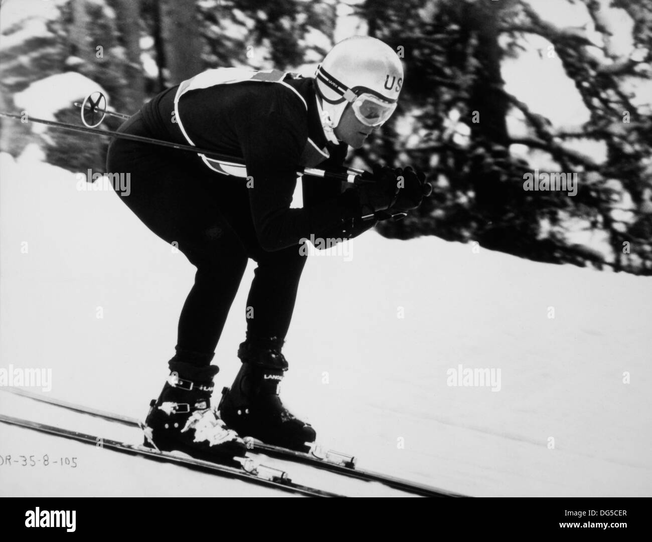 Robert Redford, On-Set of the Film, Downhill Racer, 1969 Stock Photo