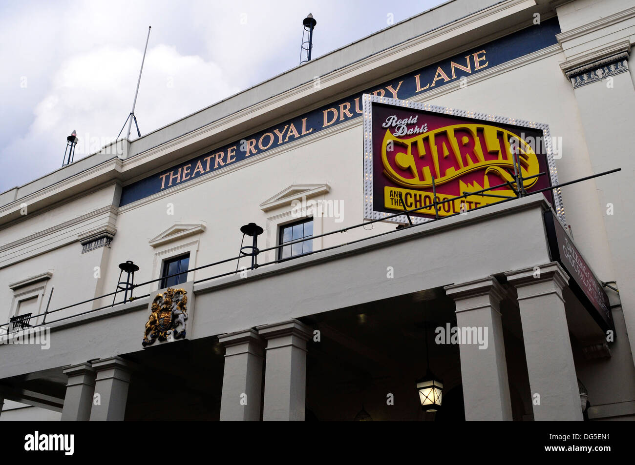 A close view of the theatre royal Drury Lane, London, UK - Stock Image