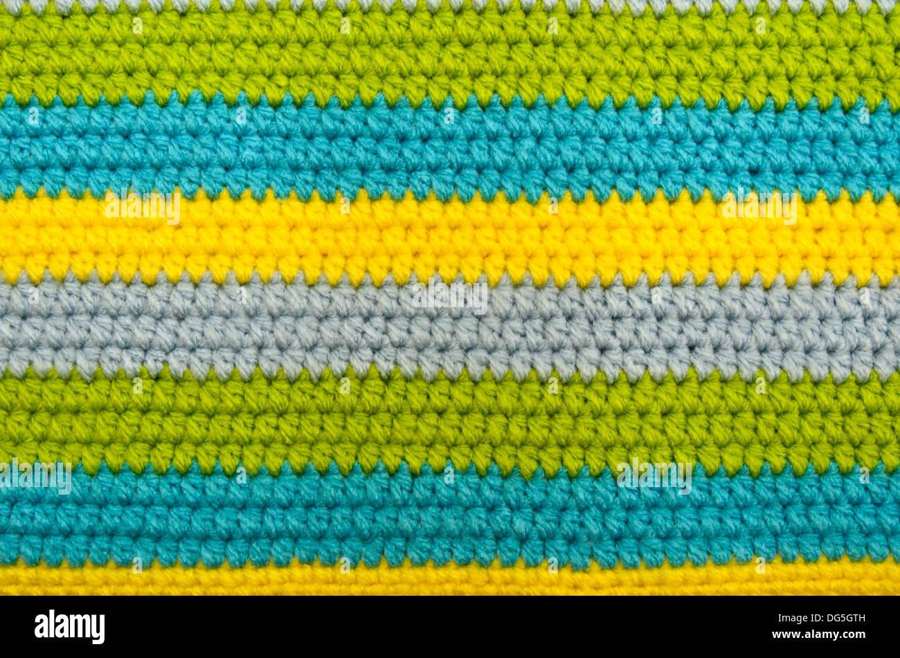 Crochet pattern closed up - Stock Image