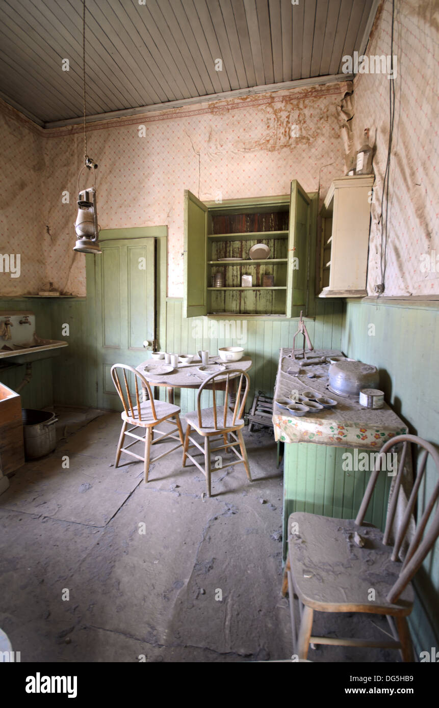 Kitchen In Abandoned House Ghost Town