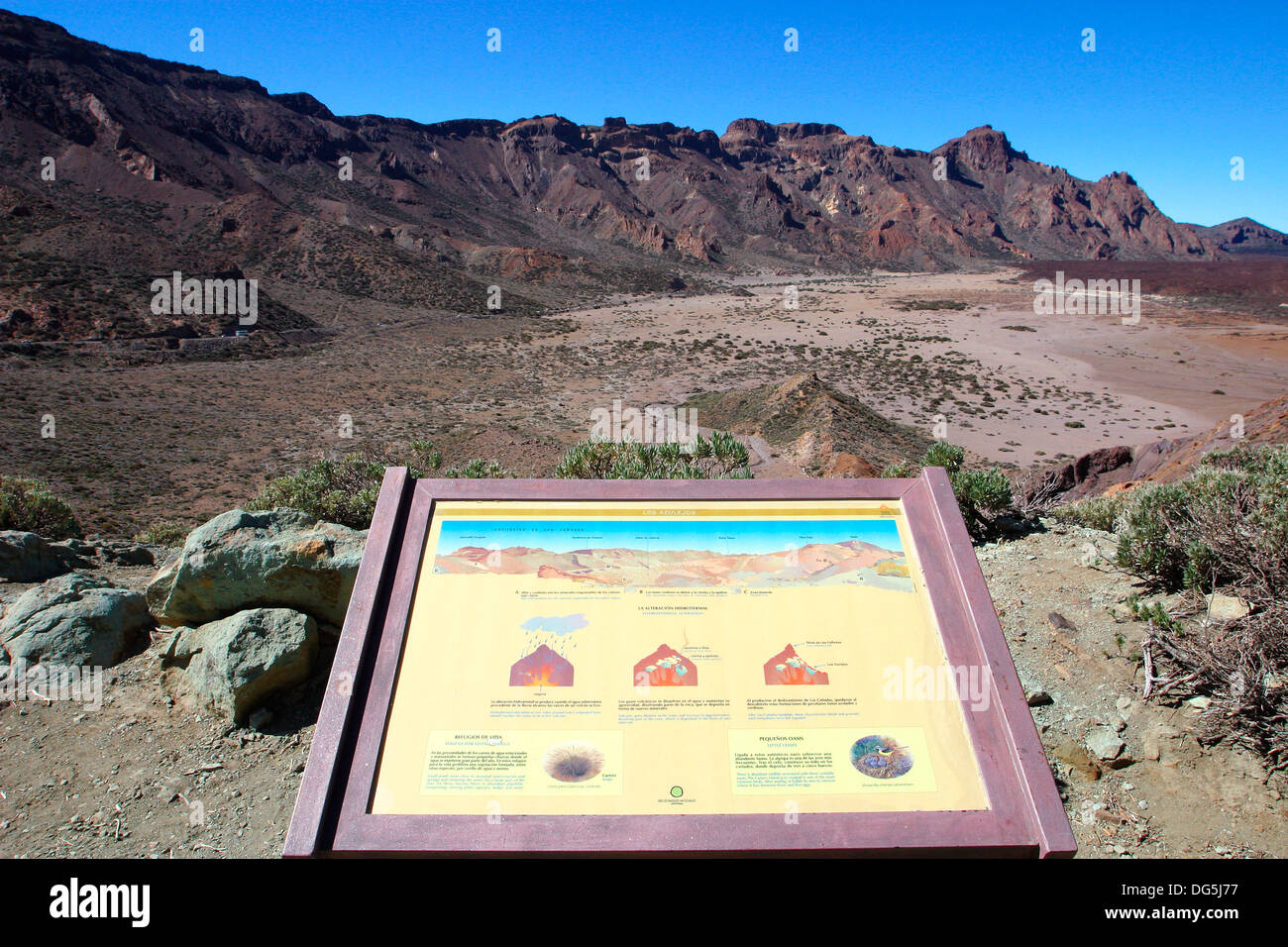Teide National Park. Tenerife. Canary Islands. Spain - Stock Image