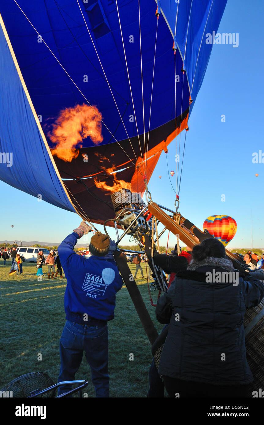 The Albuquerque International Balloon Fiesta in Albuquerque, New Mexico, USA Stock Photo