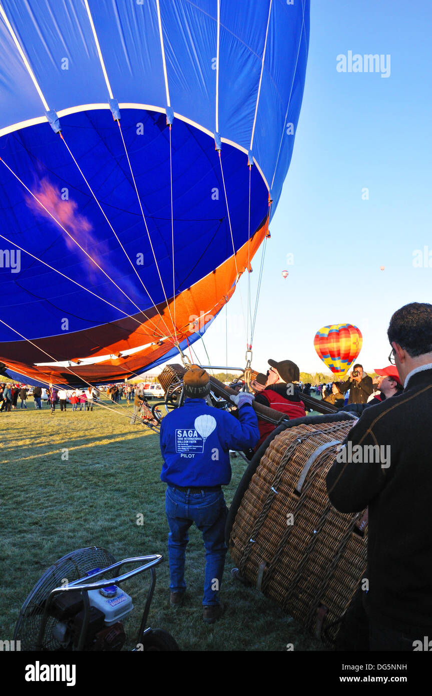 The Albuquerque International Balloon Fiesta in Albuquerque, New Mexico, USA Stock Photo
