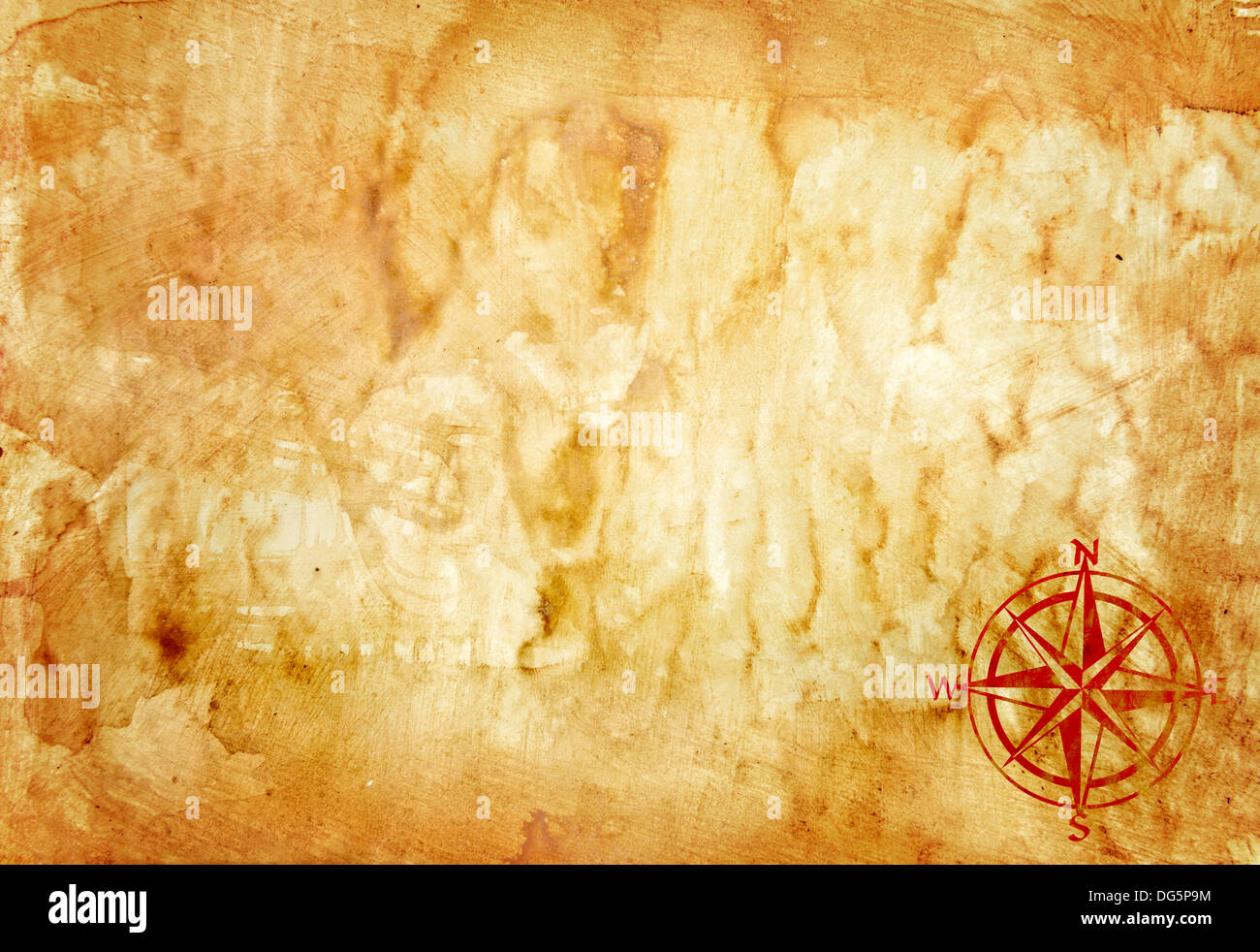 ancient map grunge paper background - Stock Image