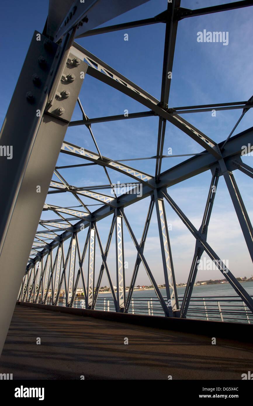 New Pont Faidherbe bridge Welcome in Saint-Louis, Senegal - Stock Image