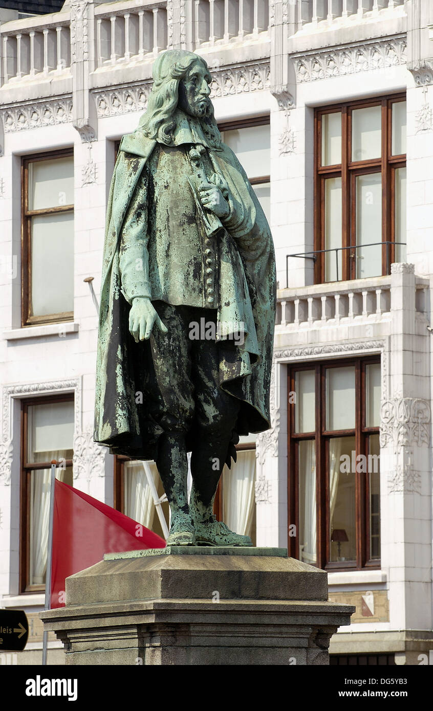 Statue of Johan de Witt in the Buitenhof. The Hague. Netherlands - Stock Image