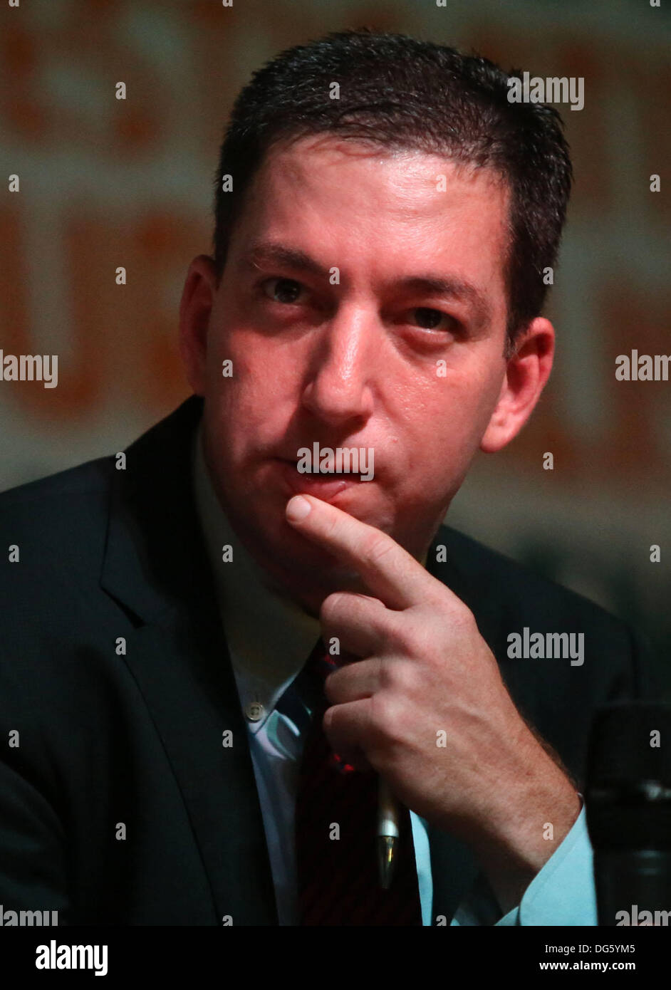 Rio de Janeiro, southeastern Brazil. 14th Oct, 2013. The journalist Glenn Greenwald, a columnist for the British Stock Photo