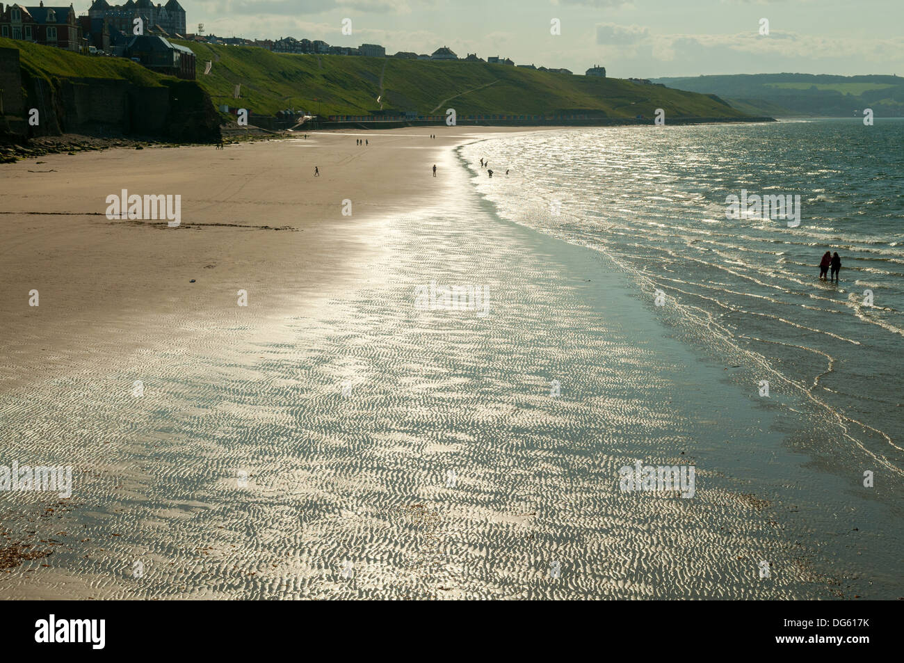 Beach at Whitby, North Yorkshire, England Stock Photo