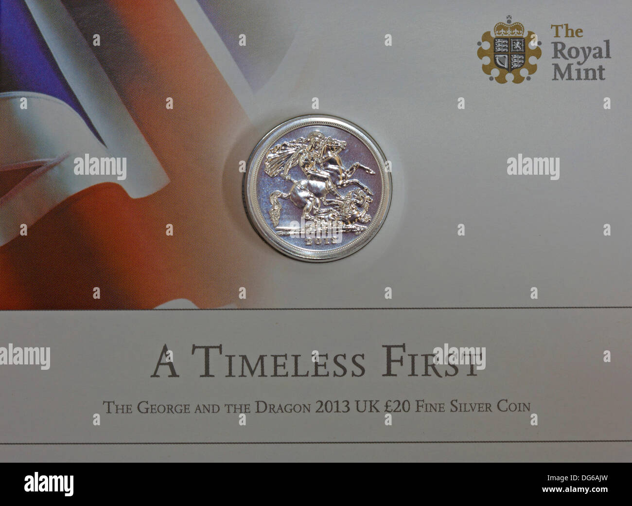 UK. 15th Oct. 2013, the Royal Mint releases United Kingdom's first ever £20 coin to those who had it on special Stock Photo