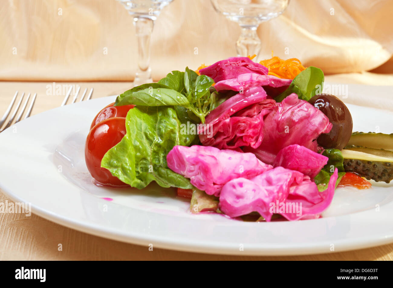 Marinated vegetables Stock Photo