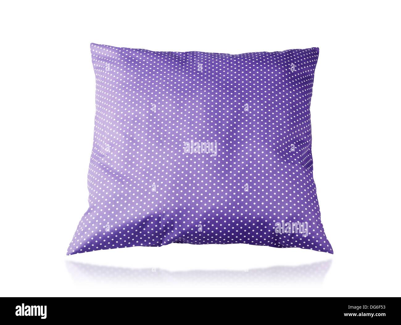 beautiful big cushion isolated on white background - Stock Image