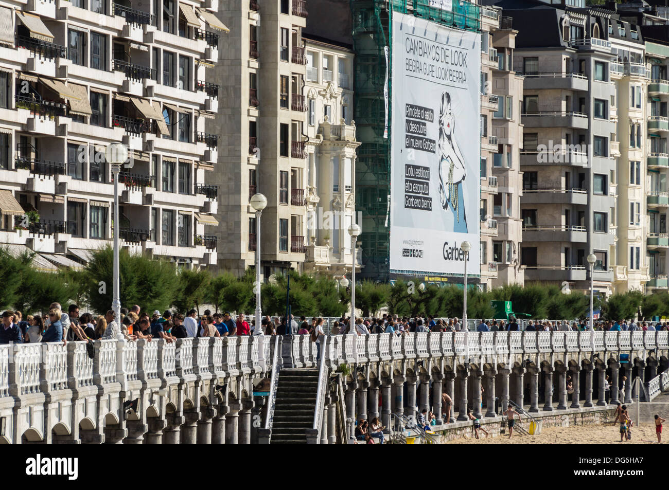 Basque country, Euskadi - San Sebastian. Seafront promenade. Stock Photo