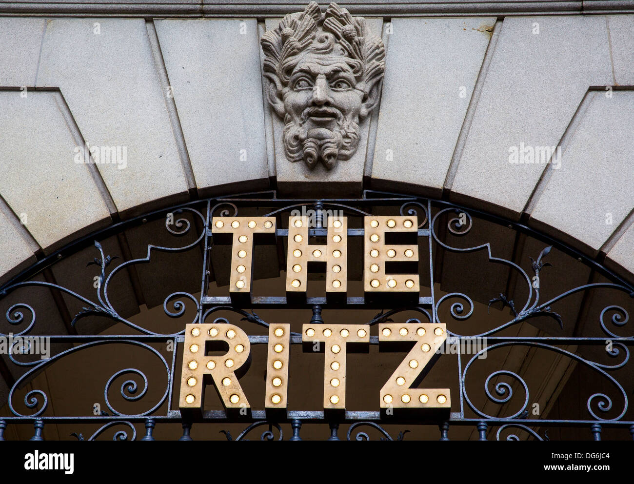 THE RITZ HOTEL SIGN - Stock Image