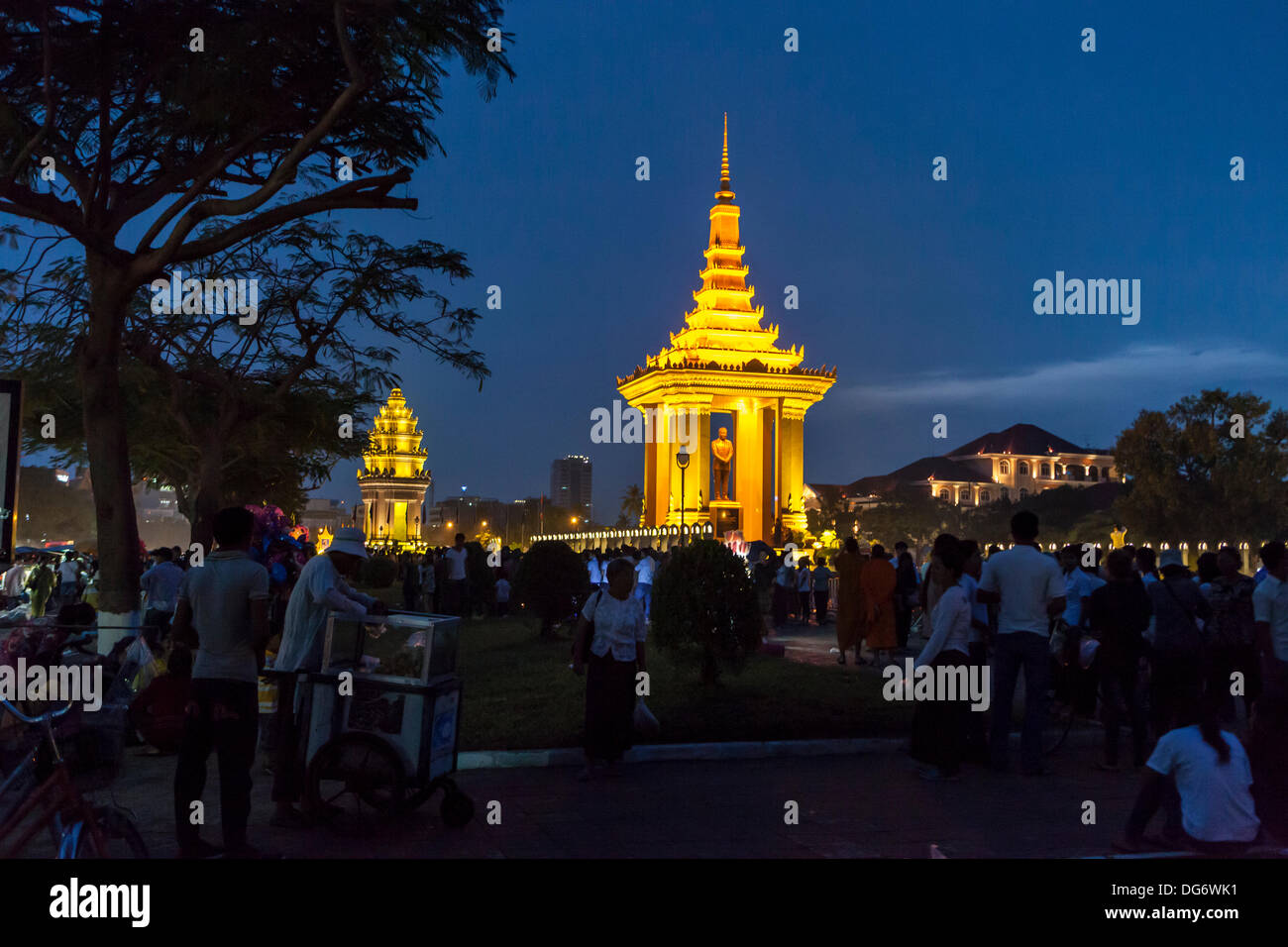 Cambodia marks 1st anniversary of King Father Norodom Sihanouk's death Credit:  Combre Stephane / Alamy Live News Stock Photo