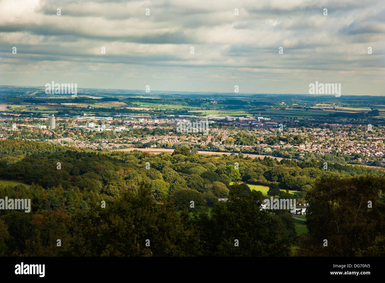 View over Loughborough Leicestershire UK - Stock Image