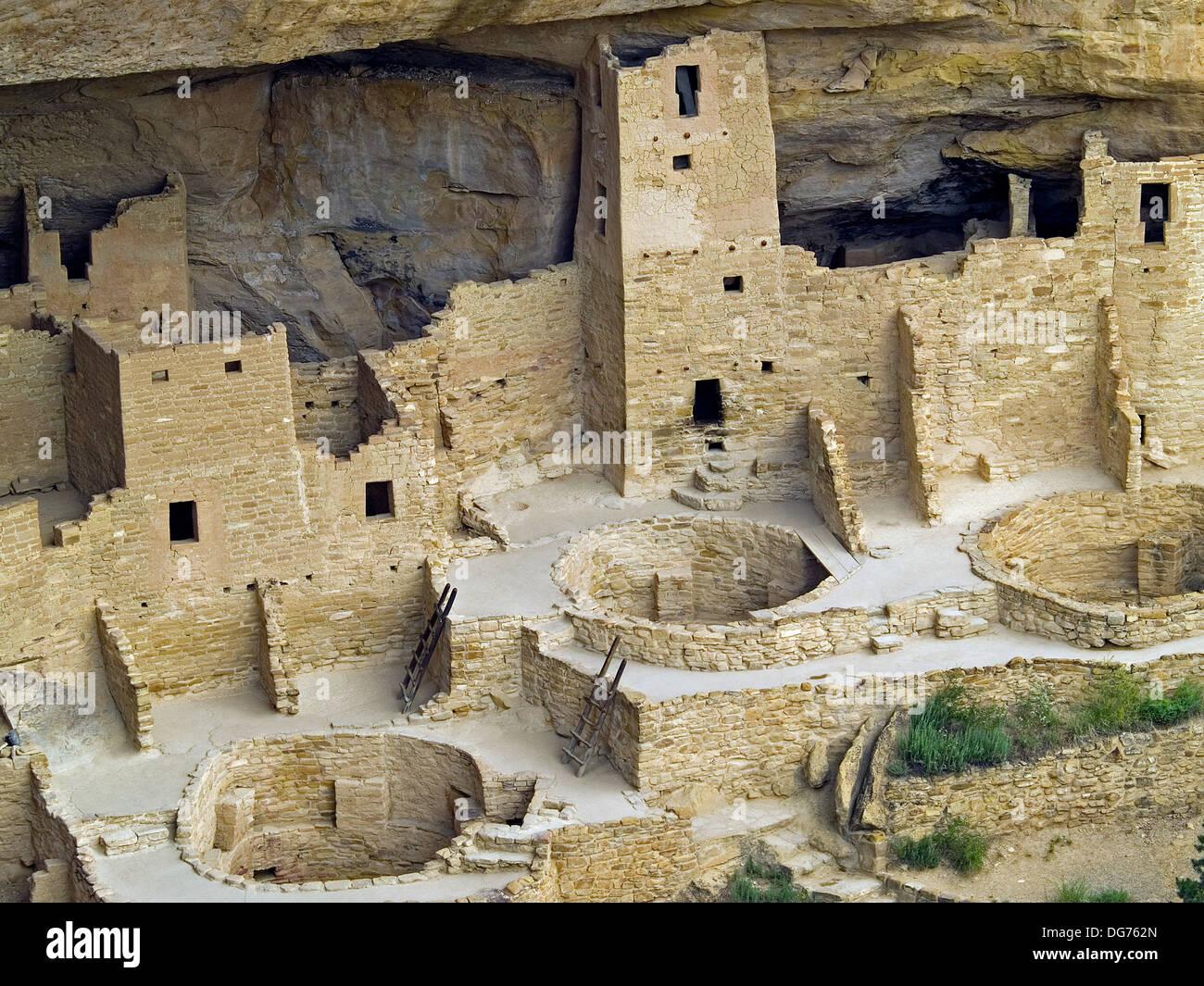 Cliff Palace,Mesa Verde National Park, Colorado - Stock Image