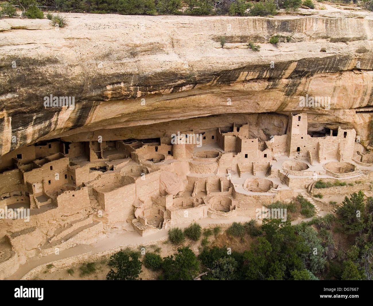 Cliff Palace,Mesa Verde National Park,Colorado - Stock Image