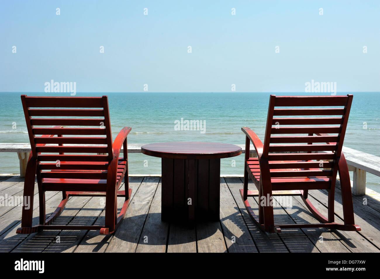 Thailand Islands U0026 Beaches   Two Rocking Chairs By The Sea (Hua Hin,  Thailand