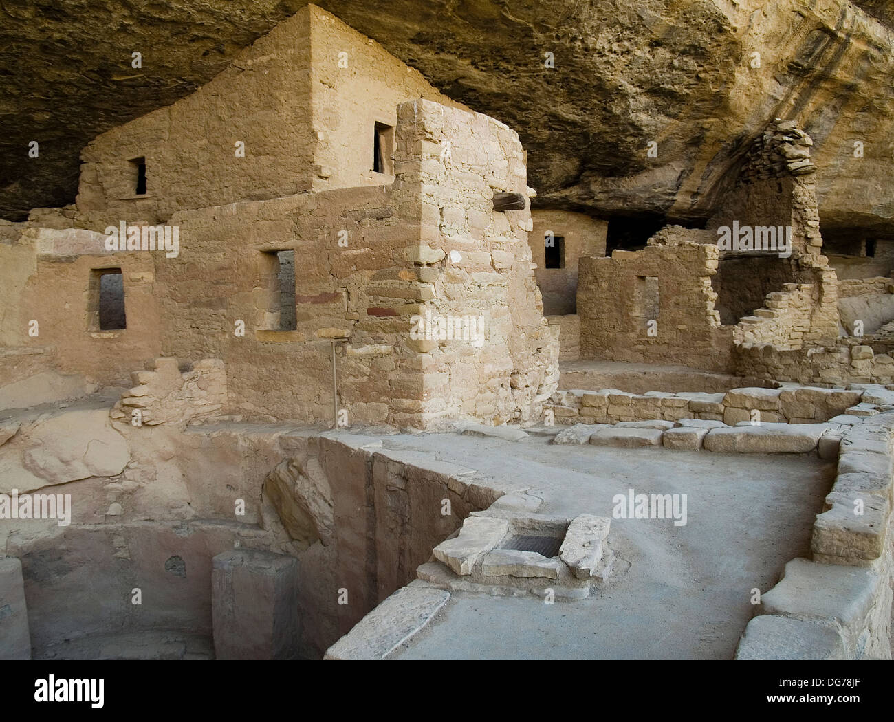 The Spruce Tree House at Mesa Verde National Park,Colorado Stock Photo
