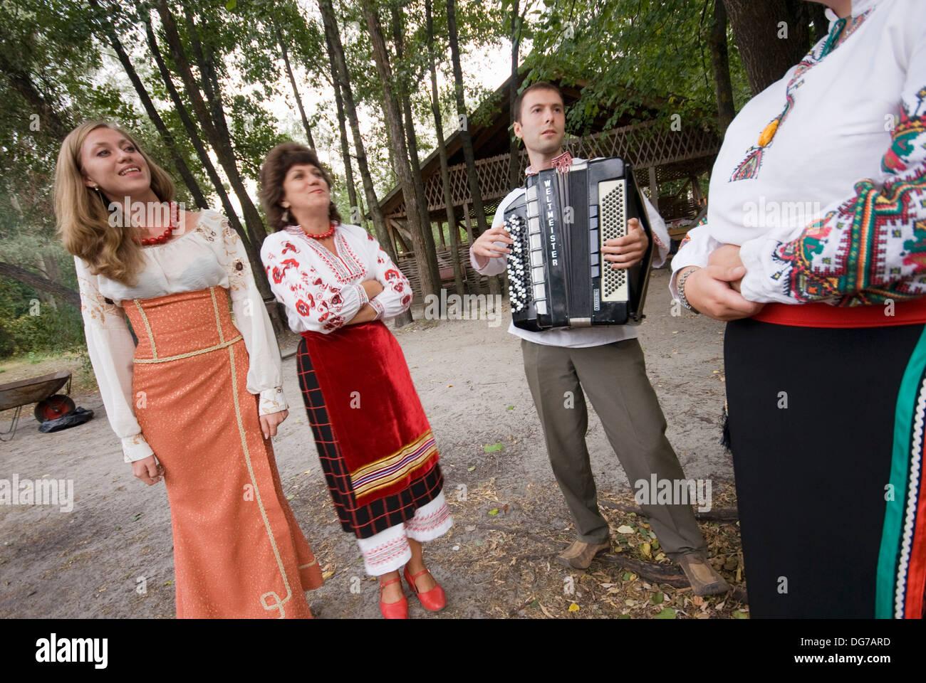 Ukraine, Poltava, folk music ensemble. - Stock Image