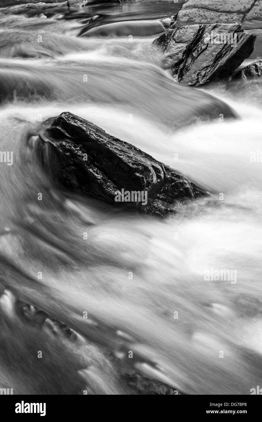 True's Brook Gorge Water Fall in black and white. .... Photography by Edward M. Fielding - Stock Image