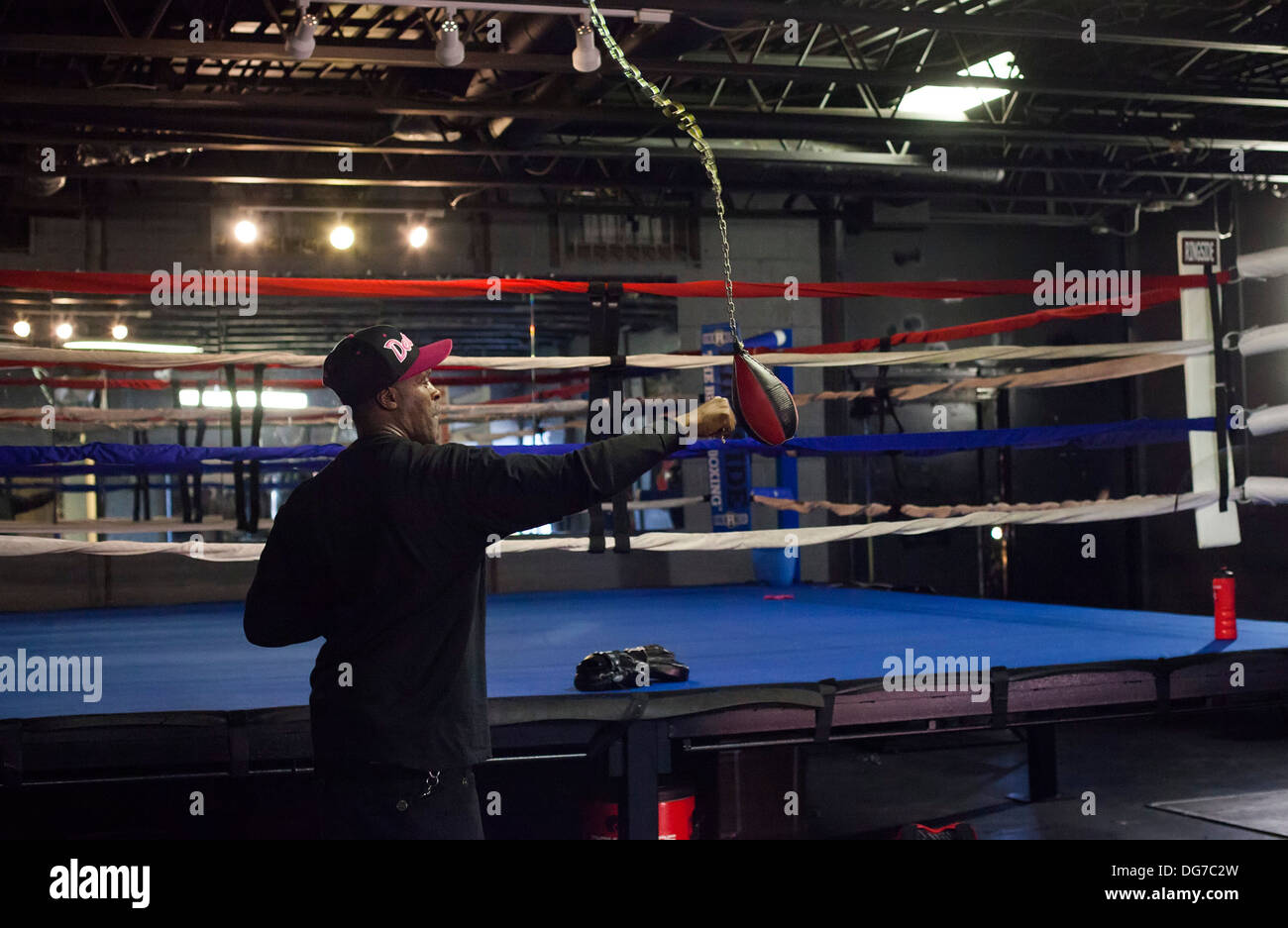 Detroit's Downtown Youth Boxing Gym - Stock Image