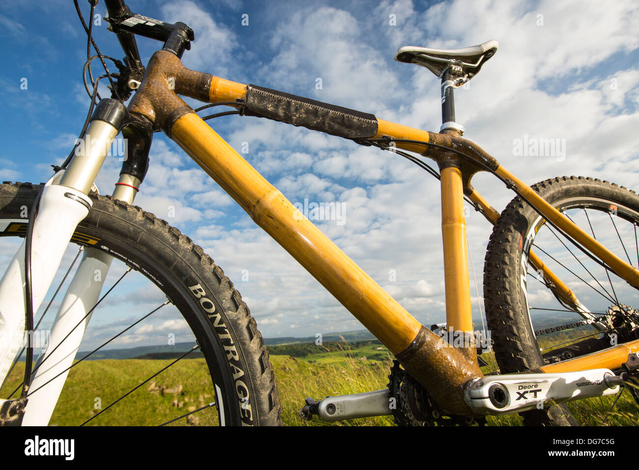A bamboo frame bike developed by Dr Shpend-Gerguri and Dr Stock ...