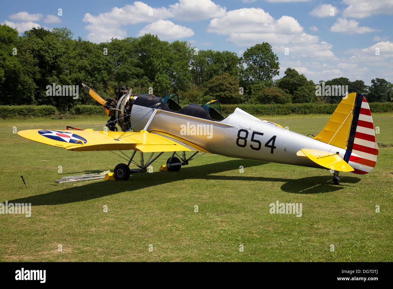 An Americian Ryan PT-22 'Recruit' Trainer, at the Shuttleworth Museum, England - Stock Image